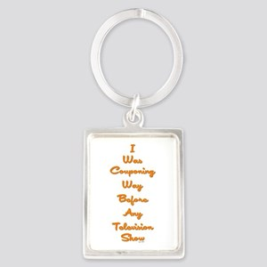 I WAS COUPONING... Portrait Keychain