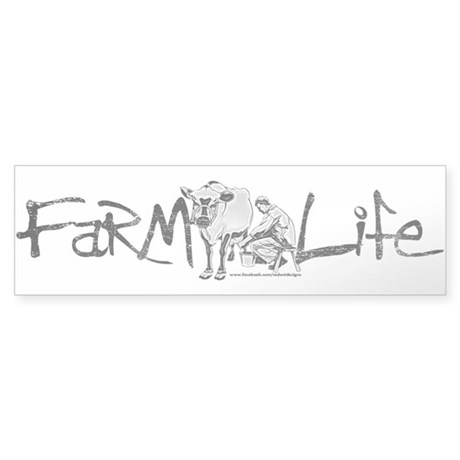 Farm Life Sticker (Bumper) by NaughtyRodent