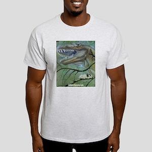 Albertosaurus Dinosaur (Front) Ash Grey T-Shirt