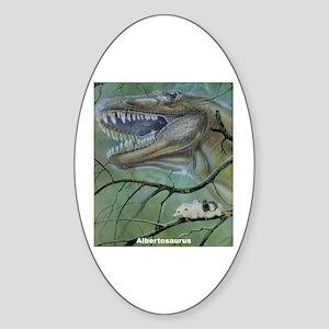 Albertosaurus Dinosaur Oval Sticker
