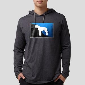 blueblack Mens Hooded Shirt