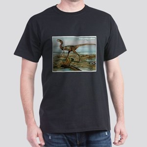 Compsognathus Dinosaur (Front) Dark T-Shirt