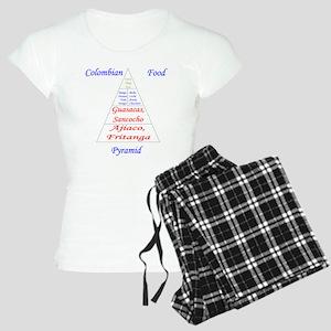 Colombian Food Pyramid Women's Light Pajamas