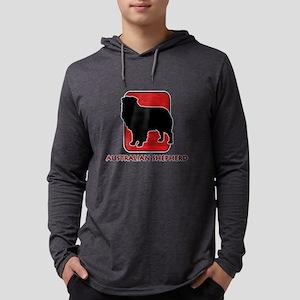 12-redsilhouette Mens Hooded Shirt