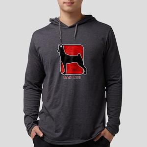 11-redsilhouette Mens Hooded Shirt