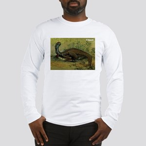Citipati Dinosaur (Front) Long Sleeve T-Shirt