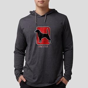 14-redsilhouette Mens Hooded Shirt