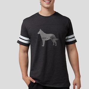 18-greysilhouette Mens Football Shirt