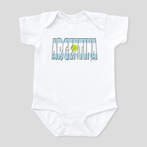 Word Art Flag of Argentina Infant Bodysuit
