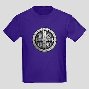 St. Benedict Medal Kids Dark T-Shirt