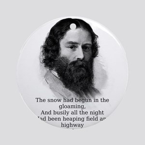 The Snow Had Begun - James Russell Lowell Round Or