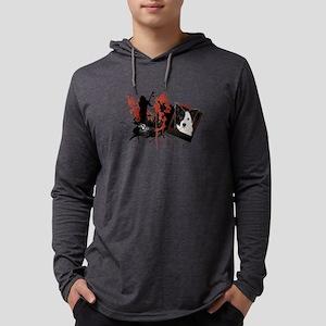 bordercollie Mens Hooded Shirt