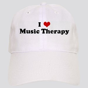 I Love Music Therapy Cap
