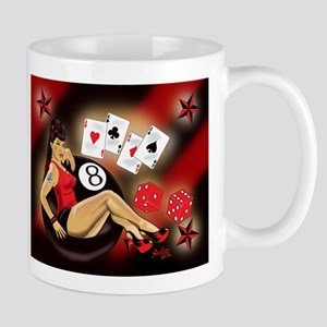 Rockabilly Eightball Pin-up Mug