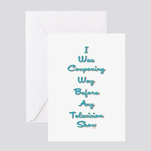I WAS COUPONING... Greeting Card