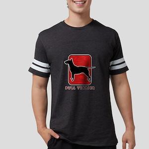 27-redsilhouette Mens Football Shirt