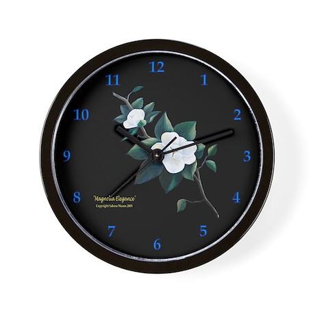 """Magnolia Elegance"" Wall Clock"