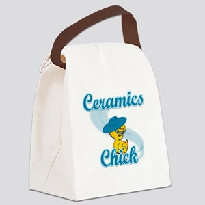 Ceramics Chick #3 Canvas Lunch Bag