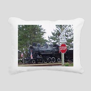 Girabaldi train Rectangular Canvas Pillow