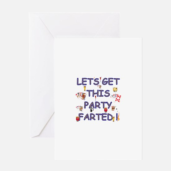 Let's get this party Farted! Greeting Card