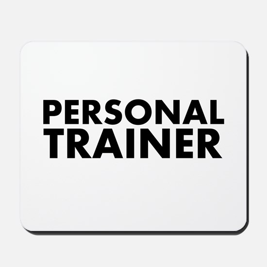 Personal Trainer Black/White Mousepad