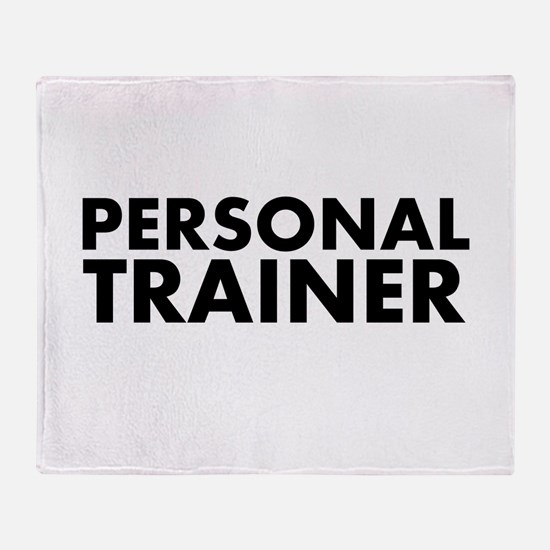 Personal Trainer Black/White Throw Blanket