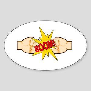 Fist Bump BOOM! Sticker (Oval)