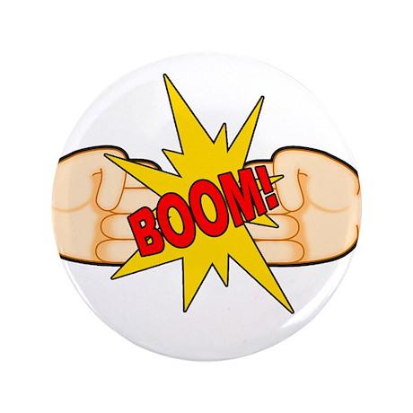 """Fist Bump BOOM! 3.5"""" Button"""