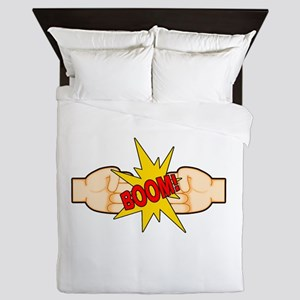 Fist Bump BOOM! Queen Duvet