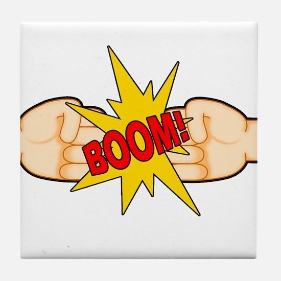 Fist Bump BOOM! Tile Coaster
