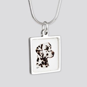 Dalmatian Silver Square Necklace