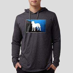 2-blueblack Mens Hooded Shirt