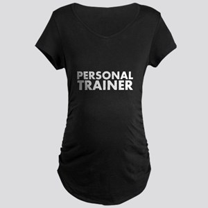 Personal Trainer White/Black Maternity Dark T-Shir