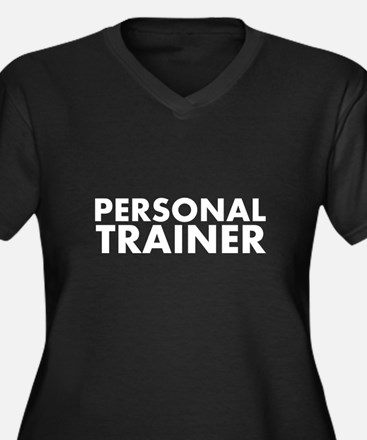 Personal Trainer White/Black Women's Plus Size V-N