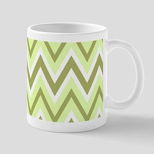 Shades of Green Chevron Mug
