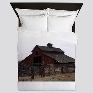 Red Barn Queen Duvet