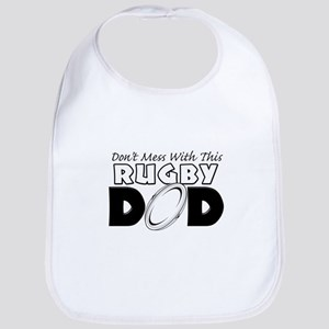 Dont Mess With This Rugby Dad copy Bib