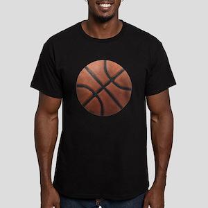 Basketball Tilt Men's Fitted T-Shirt (dark)