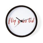 Flip Your Lid Wall Clock