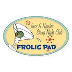 Frolic Pad Oval Sticker