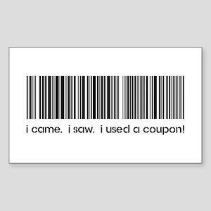 I CAME, I SAW... Sticker (Rectangle)