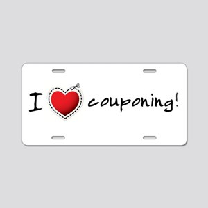 I <3 COUPONING! Aluminum License Plate