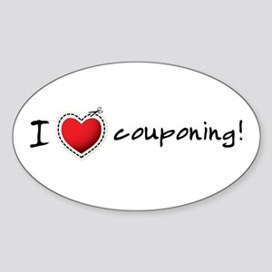 I <3 COUPONING! Sticker (Oval)