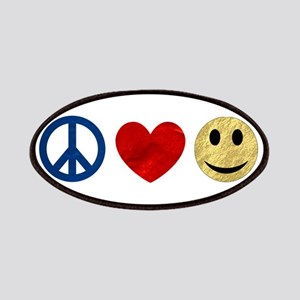 Peace Love Happiness Patches