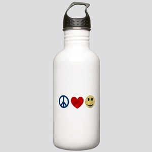 Peace Love Happiness Stainless Water Bottle 1.0L