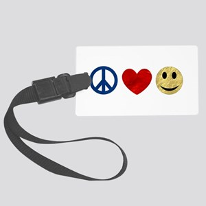 Peace Love Happiness Large Luggage Tag