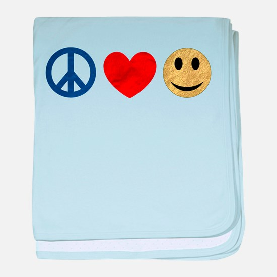 Peace Love Happiness baby blanket