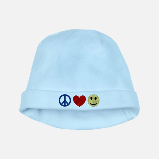 Peace Love Happiness baby hat