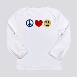 Peace Love Happiness Long Sleeve Infant T-Shirt