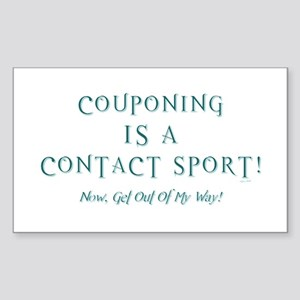 COUPONING IS A... Sticker (Rectangle)